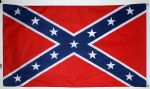CONFEDERATE NYLON DELUXE QUALITY - 5 X 3 FLAG
